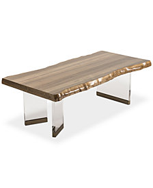 CLOSEOUT! Sawyer Faux Live Edge Coffee Table