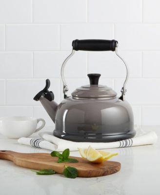 le creuset classic enamel on steel 17 qt whistling tea kettle