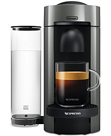 Nespresso Vertuo Plus Coffee and Espresso Maker by De'Longhi, Gray