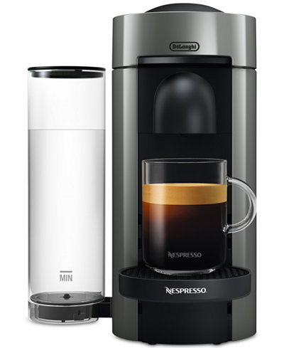 nespresso vertuo plus coffee and espresso maker by de 39 longhi gray coffee tea espresso. Black Bedroom Furniture Sets. Home Design Ideas