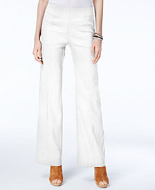 I.N.C. Petite Pull-On Wide-Leg Pants, Created for Macy's