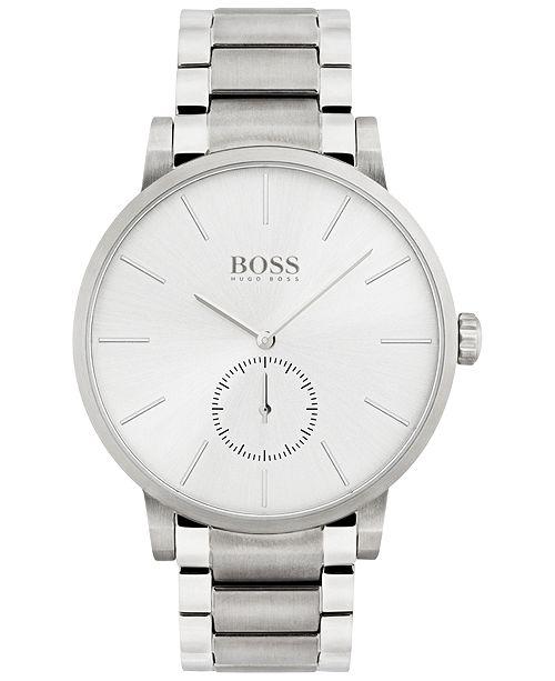 BOSS Men's Essence Stainless Steel Bracelet Watch 42mm 1513503