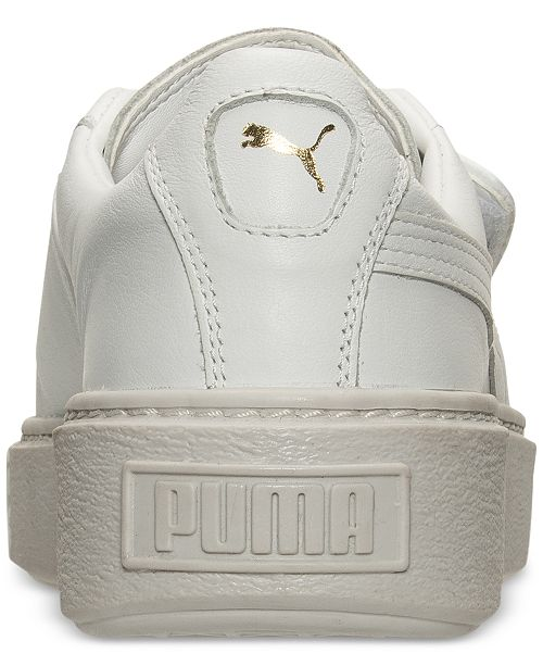acd42472575 Puma Women s Basket Platform Strap Casual Sneakers from Finish Line ...