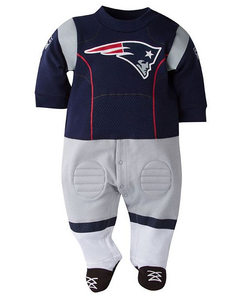 6ace5dc9a ... Gerber Childrenswear New England Patriots Footysuit, Baby Boys (18  months) ...