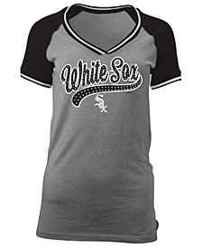 5th & Ocean Women's Chicago White Sox Rhinestone Night T-Shirt