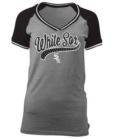 5th & Ocean Women's Chicago White Sox Rhinestone Night T-Shirt
