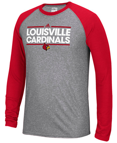 adidas Men's Louisville Cardinals Raglan Long Sleeve T-Shirt