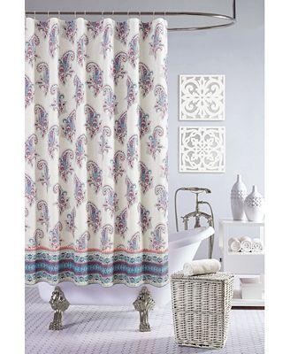 jessica simpson gemma shower curtain, 100% cotton - shower