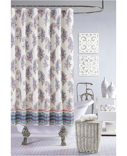 Jessica Simpson Gemma Shower Curtain 100 Cotton