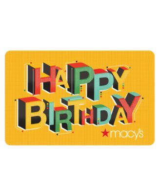 Happy Birthday E-Gift Card - Gift Cards - Macy's