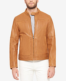 Marc New York Men's Big & Tall Leather Moto Jacket