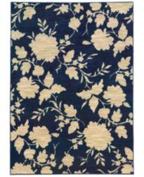 CLOSEOUT! JHB Design Brookside Mod Floral Navy Area Rug