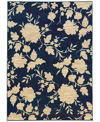 CLOSEOUT! JHB Design Brookside Mod Floral Navy 9'10
