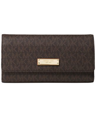 f4199f5918e9 Michael Kors Signature Jet Set Item Checkbook Wallet & Reviews - Handbags &  Accessories - Macy's