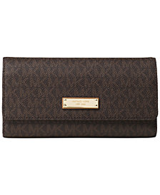 MICHAEL Michael Kors Signature Jet Set Item Checkbook Wallet