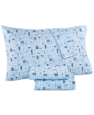 Last Act! Whim by Martha Stewart Collection Novelty Print Full 4-pc Sheet Set, 200 Thread Count 100% Cotton Percale, Created for Macy's Bedding 5486675