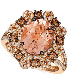 Le Vian Chocolatier® Peach Morganite™ (2-3/8 ct. t.w.) and Diamond (3/4 ct. t.w.) Ring in 14k Rose Gold