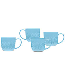 Godinger Dublin Blue 4-Pc. Mug Set
