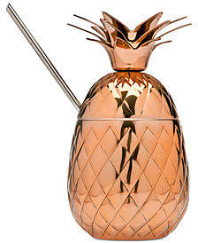 Godinger Copper Pineapple Mug with Straw