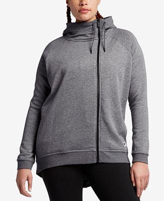 nike plus size modern cape zip hoodie - jackets & blazers - plus