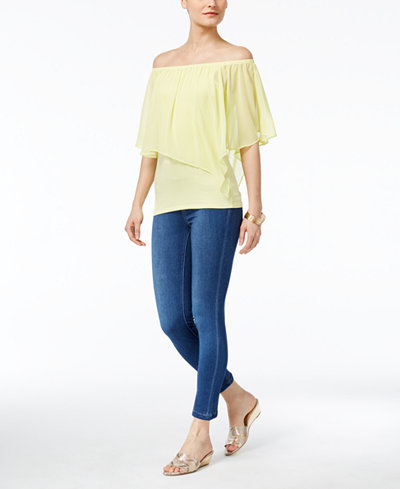 Thalia Sodi Convertible Top & Jeggings, Created for Macy's