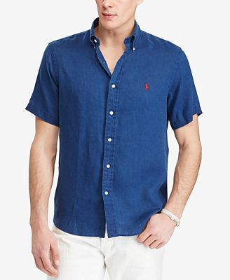 Polo Ralph Lauren Men's Short-Sleeve Linen Shirt