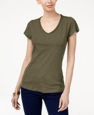 Image of INC International Concepts Cotton V-Neck T-Shirt, Created for Macy's
