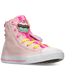 Converse Little Girls' Chuck Taylor Loopholes Emoji High Top Casual Sneakers from Finish Line