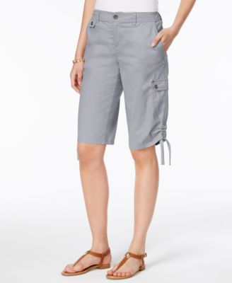 Image of Style & Co Ruched Bermuda Shorts, Only at Macy's