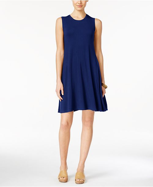 Style & Co Sleeveless A-Line Swing Dress, Created for Macy's