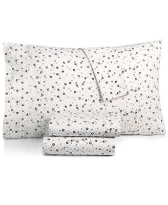 Cotton Percale 200 Thread Count Ditsy Floral Twin Sheet Set