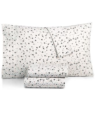 BCBGeneration Cotton Percale 200 Thread Count Ditsy Floral Twin XL Sheet Set