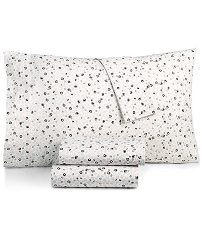 BCBGeneration Cotton Percale 200 Thread Count Ditsy Floral Twin Sheet Set
