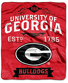 Northwest Company Georgia Bulldogs Raschel Rebel Throw Blanket