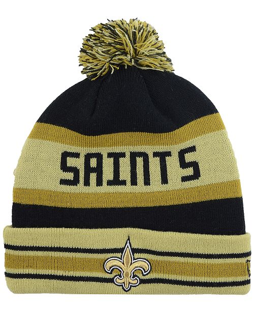 online for sale order online super cheap New Era New Orleans Saints Team Color Black Jake Knit Hat ...