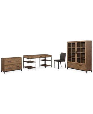 Gatlin Home Office 4-Pc. Furniture Set (Desk, Lateral File, Desk Chair & Bookcase), Created for Macy's