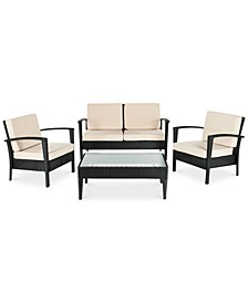 Karrin Outdoor 4-Pc. Seating Set (1 Loveseat, 2 Chairs & 1 Coffee Table)
