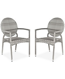 Delma Set of 2 Indoor/Outdoor Wicker Armchairs
