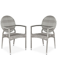 Delma Set of 2 Indoor/Outdoor Wicker Armchairs, Quick Ship