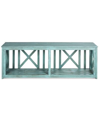 Allder Outdoor Bench, Quick Ship