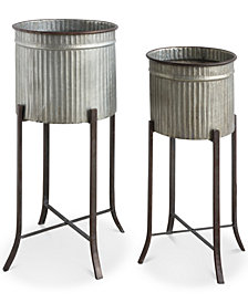 Set of 2 Iron Planters
