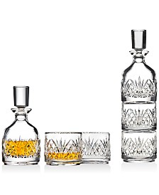 Godinger Dublin Stackable Decanter with 2 Glasses