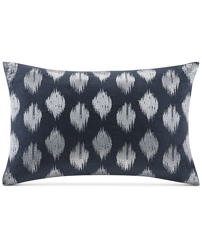 """INK+IVY - Nadia Embroidered Dot 12"""" x 18"""" Decorative Pillow"""