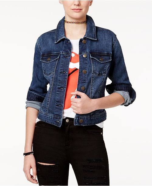 d8a21759 Celebrity Pink Juniors' Classic Denim Jacket & Reviews - Jackets ...