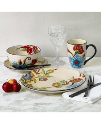 Superbe Handcrafted With Vibrant Sprays Of Blooms And Dramatic Black Accents, The Tabletops  Unlimited Caprice Dinnerware Set Creates A Stunning Tablescape.