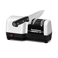 Chef's Choice 210 Hybrid Diamond Hone 2 Stage Knife Sharpener (White and Black)