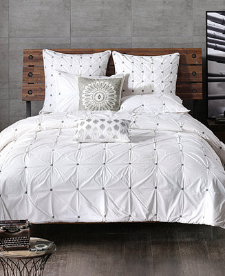 Ink Ivy Masie Embroidered Ruched Full Queen Comforter Mini