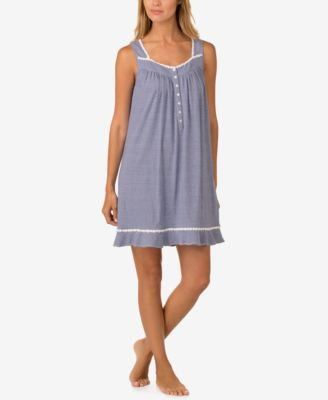 eileen west braidedtrim cotton nightgown - Flannel Nightgowns