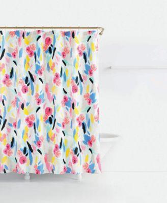 kate spade new york paintball cotton floralprint shower curtain