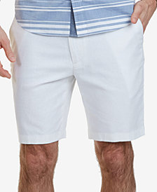 "Nautica Men's 8-1/2"" Classic-Fit Linen Blend Shorts"